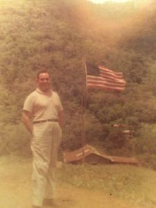 Papa at the farm 1961