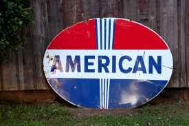 american oval signage